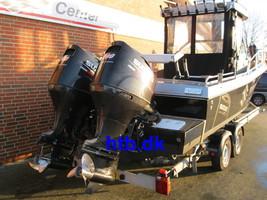 ProFisher Cutter 223 WA m/2 stk. Suzuki DF200 hk og Variant buggi trailer