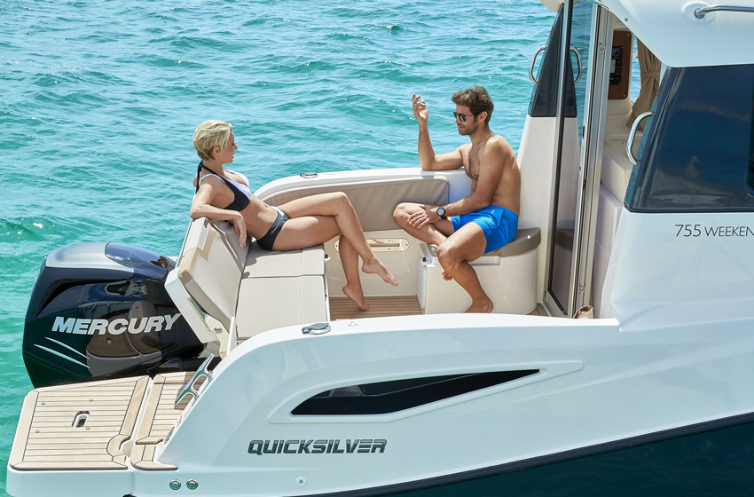 Quicksilver Activ 755 Weekend m/Mercury F250 hk V8
