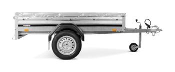 Brenderup 1205 S m/grå presenning, næsehjul og lås